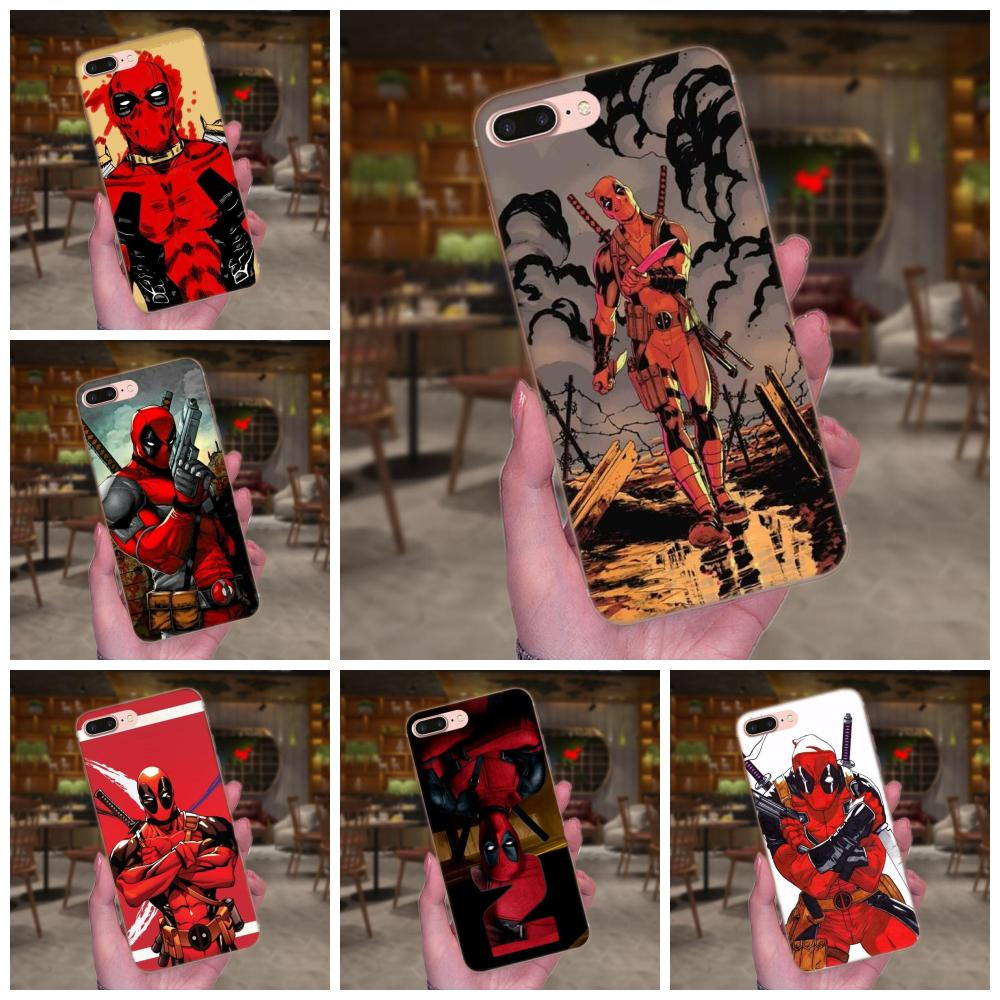 Movie <font><b>Knife</b></font> Deadpool Style For Huawei Honor 4C 5A 5C 5X <font><b>6</b></font> 6C 6A 6X 7 7X 8 <font><b>9</b></font> V8 V10 Y3II Y5II Y6II G8 P7 Play Lite image