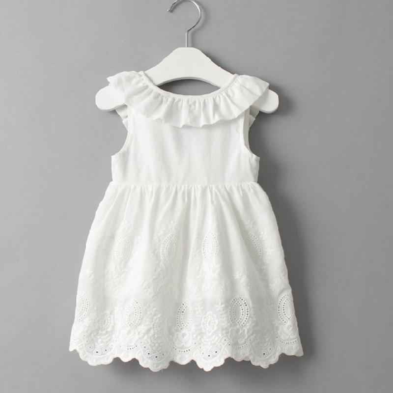 Baby Girl Dresses Solid White Girl Dresses
