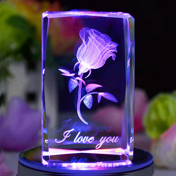 Day gift girlfriend gifts romantic birthday gift lovers gift colorful  crystal rose gift wire crystal gift setcrystal anniversary gift - AliExpress