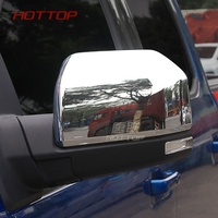 Car Rearview Rear View Mirror Cover Trim Sticker Chromium ABS Styling Anti collision Accessories fit For Ford F150