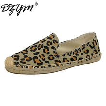 DZYM 2017 Printing Flowers Canvas Espadrilles High Quality Leopard Women Flats Stripes Leisure Loafers Hand-made Sapato Feminino