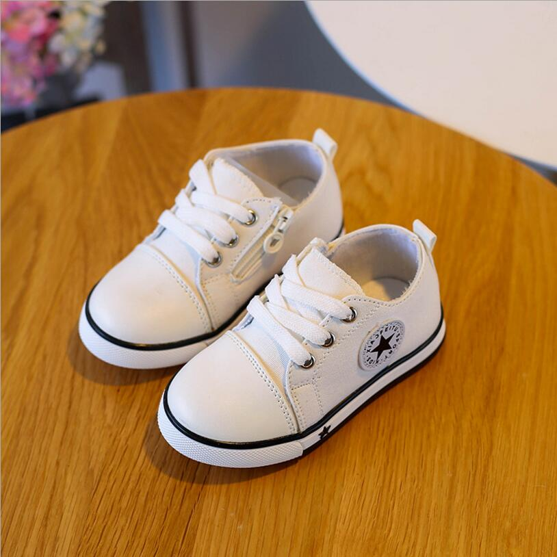6 colors summer spring Canvas children's shoes star fashion sneakers kids lace-up casual shoes for girls boys black withe red