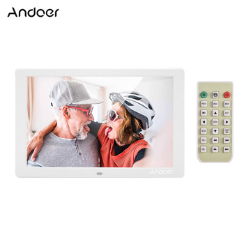 Andoer  LED Screen Digital Photo Frame Eletronic Picture Album High Resolution Clock Calendar Video Player with Remote Control