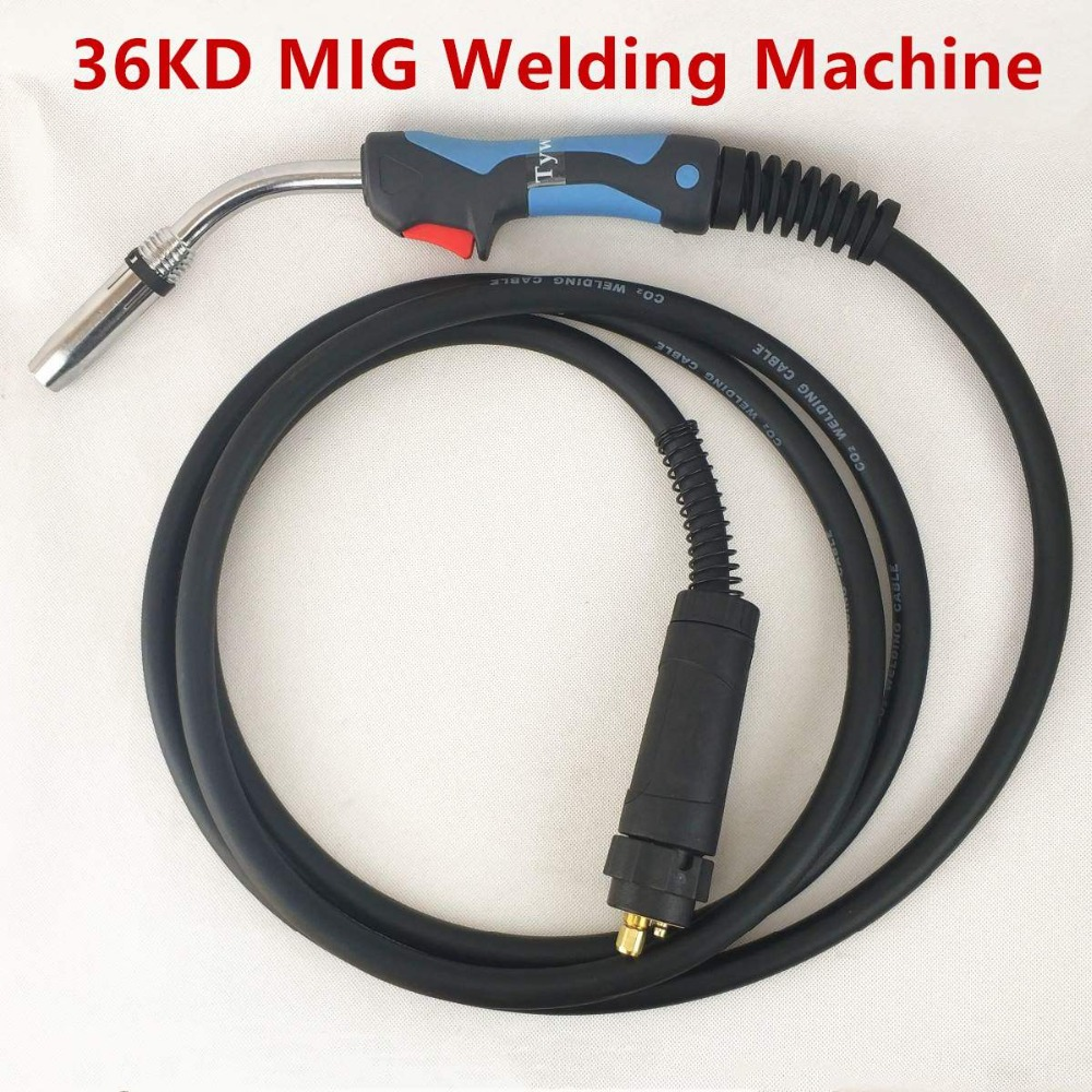36KD MIG Torch Professional 320A Welding Torch MIG MAG Welding Gun 4M Air-cooled Euro Connector for MIG MAG Welding Machine mig wire feeder motor 76zy02a dc24v 18m min for mig welding machine