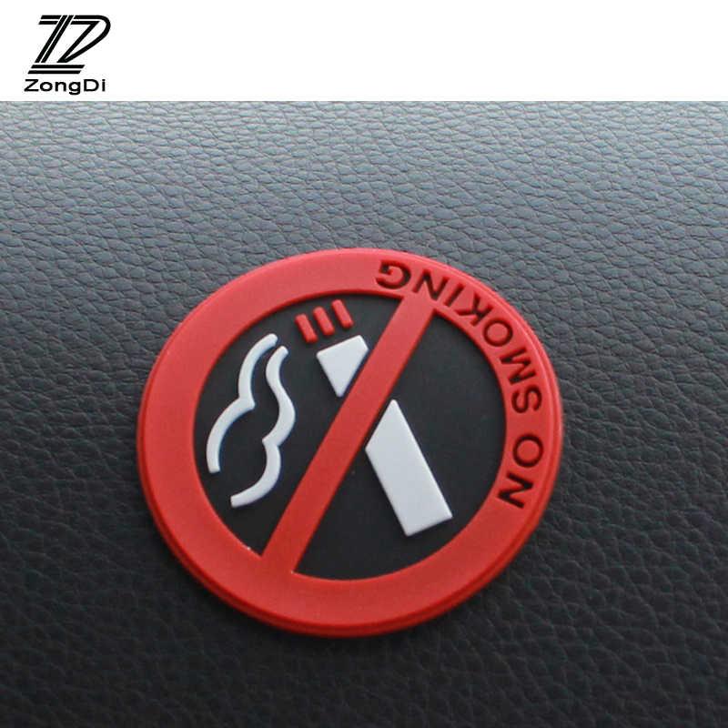ZD 1 Pc pegatinas de coche NO fumar logotipo para Mazda 3 6 CX-5 Suzuki Grand Vitara SX4 Mitsubishi ASX Lancer 10 Outlander Pajero 2017