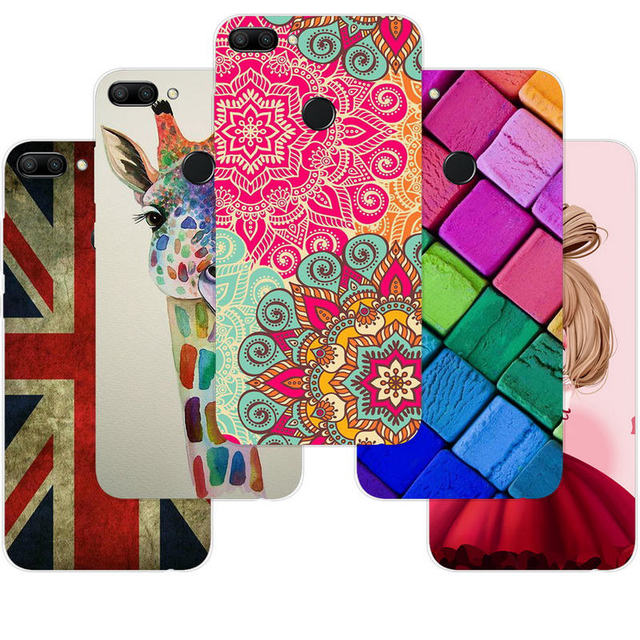 purchase cheap d482f 3f2ae US $1.35 29% OFF|Soft TPU Cover For Huawei Honor 9n Phone Case 5.84inch  Cute Patterned Silicone Back Cases For Huawei Honor 9n Cover Fundas  ky303-in ...