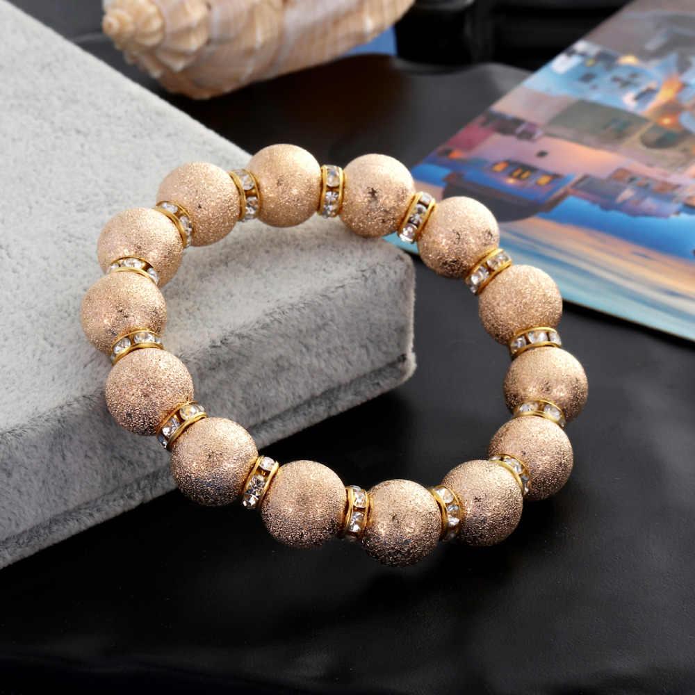2018 gorący modny kryształ Pave CZ złoto posrebrzane koraliki Charm bransoletka dla bransoletka męska i damska biżuteria Pulseira hombres