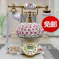 Wedding Rose Antique Telephone Retro Phone Fashionable Cute Creative Machine Resin Living Room Landline Mail Landline