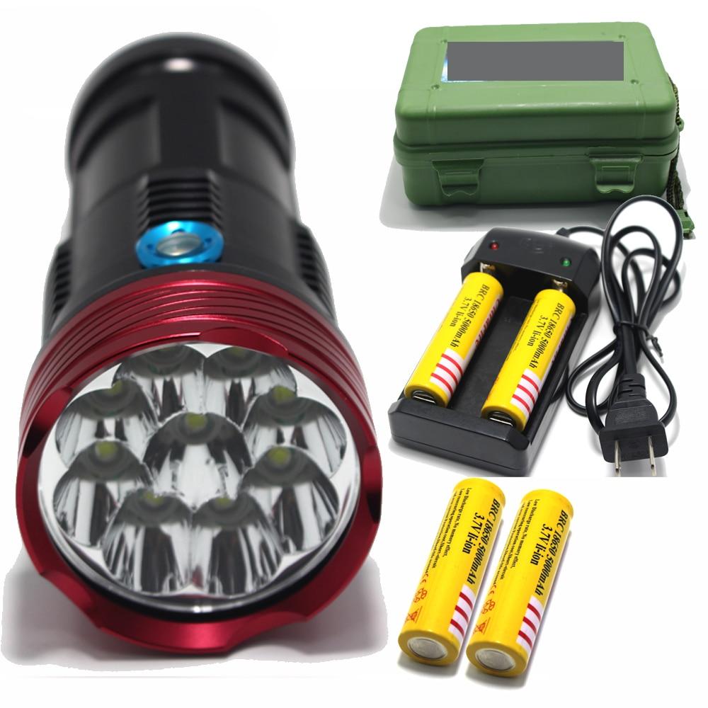 Cheap Price 30000 Lumens Super Bright Led Flashlamp 12 X Xm-l T6 Xml T6 12t6 Led Flashlight Hunting Torch Charger 4 *18650 Battery