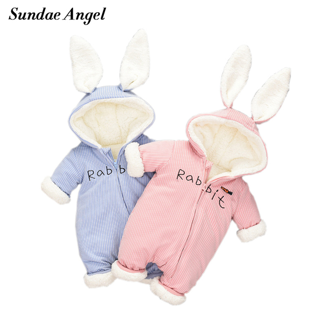 758e24629 Sundae Angel -30 Degrees New Winter Coat Baby Wear Newborn Snowsuit  Fotografia Boy Warm Romper Thicken Girls Clothes Jumpsuit