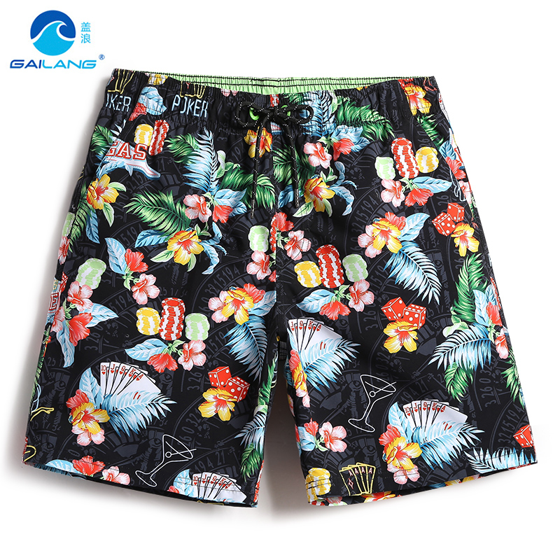 New swimming suit men's   board     shorts   bathing suit swimsuit hawaiian bermudas sexy beach   shorts   joggers swimwear plavky mesh