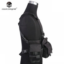 Emersongea Chest Rig Gen V Front Vest MF Style UW Split Airsoft Army Combat Paintball Military Gear Tactical Vest Black