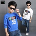 Retail 100% Cotton Fashion Casual Children T shirts Long-sleeve 2016 Bull 79 jordan print Tees Tops loose Boys T-shirts Hiphop