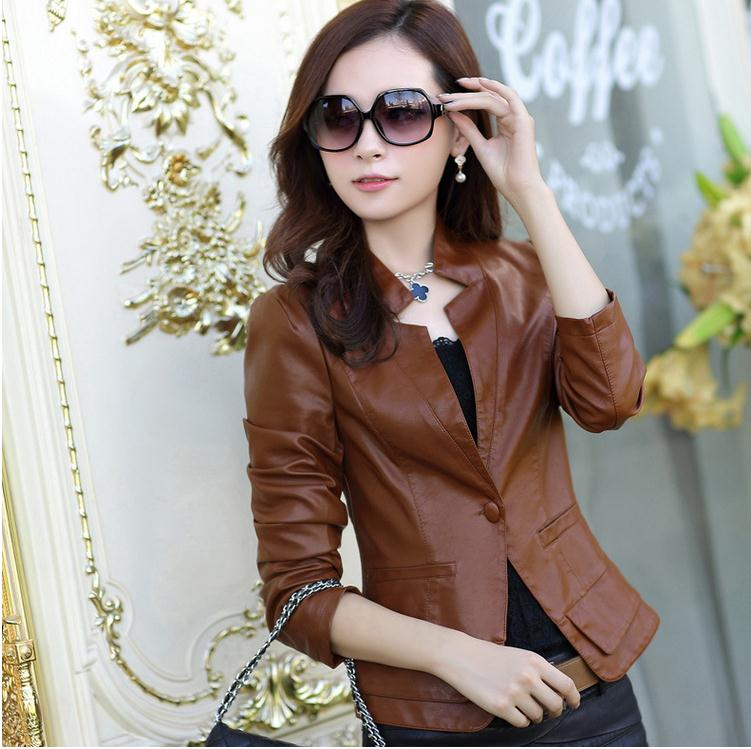 Online Buy Wholesale ladies tan leather jacket from China ladies ...