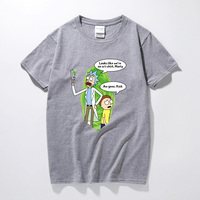 2018 Cartoon Free RICK AND MORTY Printed T Shirt For Men Women Boy Novelty Man Round