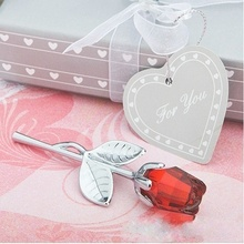 Artificial Crystal Rose Flowers With Metal Rod