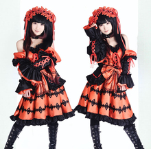 Anime Date A Live Tokisaki Kurumi Cosplay Dress Halloween Carnival Cosplay Costume Womens Girls Fancy Dress S-XL/Custom Made цена 2017