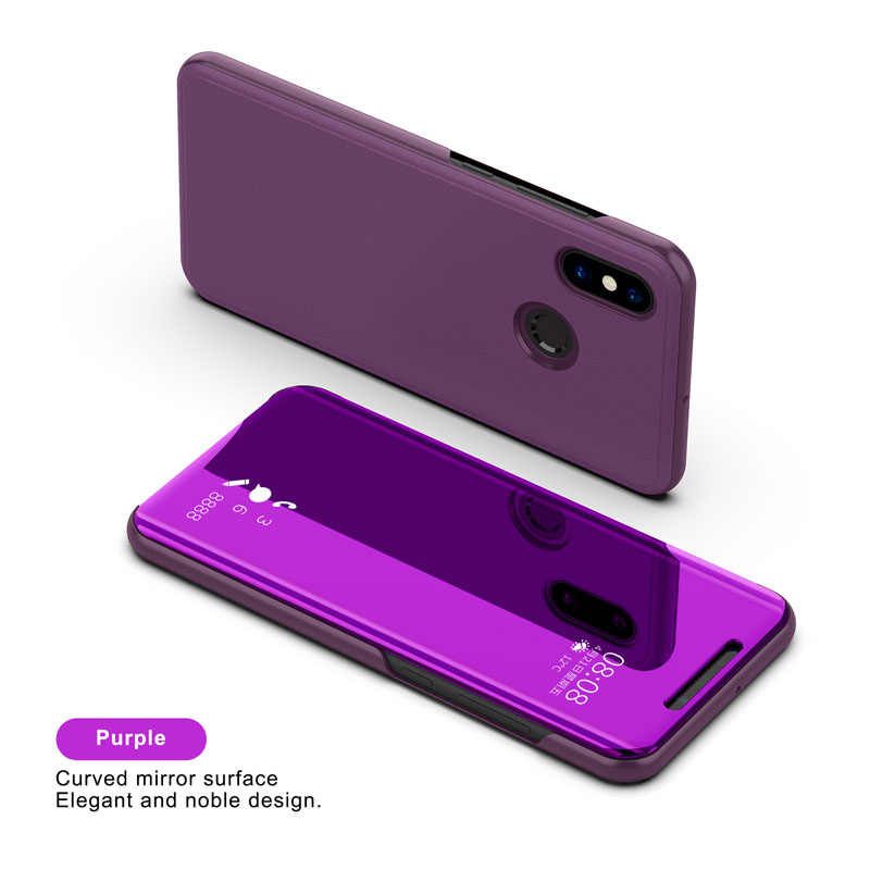 Clear View Smart Spiegel Telefoon Case Voor iphone X XS XR 8 7 6 Plus Cases Fashion Flip Stand Leather cover Voor iphone XS MAX Coque