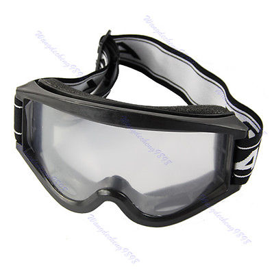 Motocross ATV MX Raider YOUTH Goggles Black Adjustable Strap Single Lens