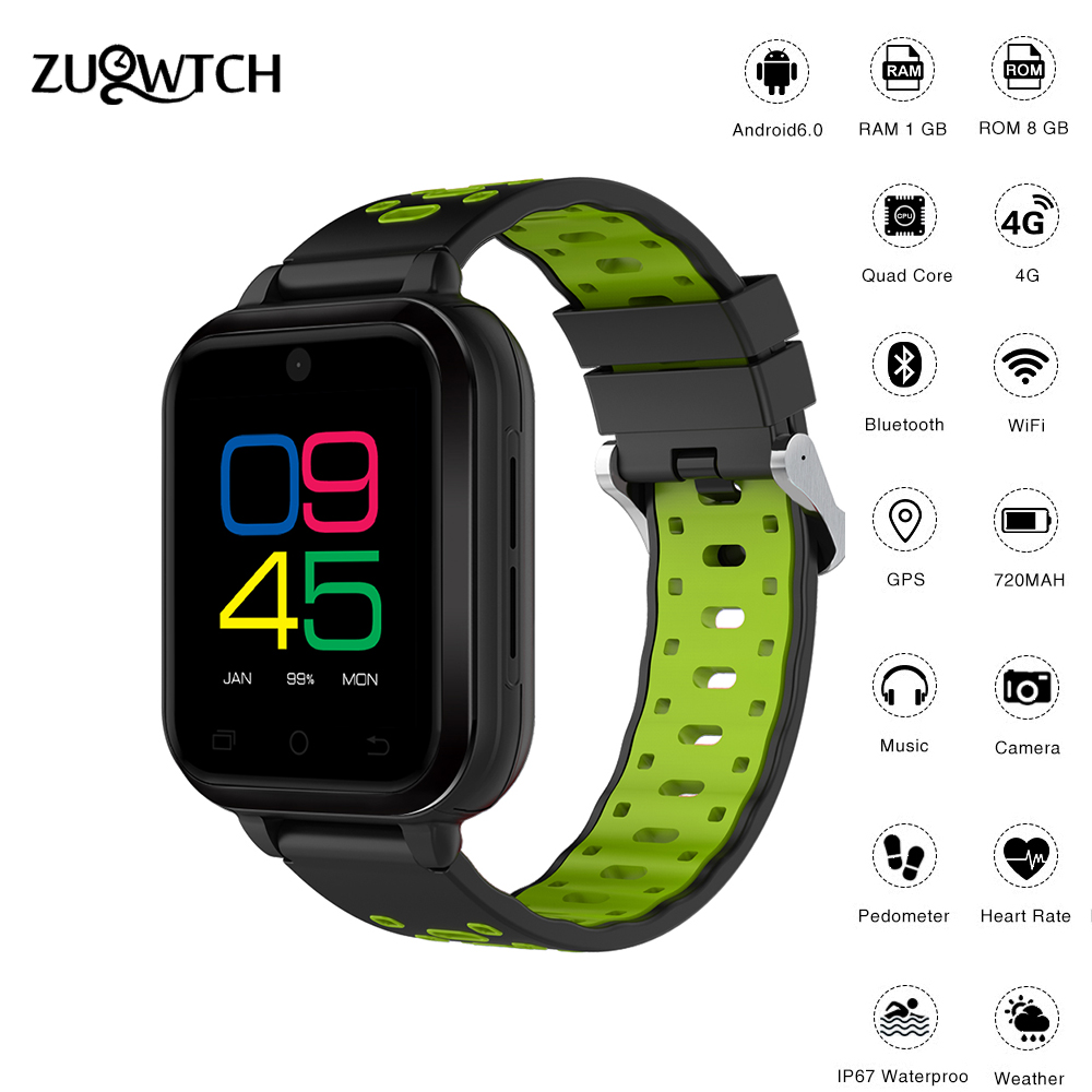 Smart Watch 4G Android 6.0 MTK6737 Quad Core1G/8G SmartWatch Waterproof Support WIFI GPS SIM Card Camera Heart Rate Wristwatch smart watch smartwatch dm368 1 39 amoled display quad core bluetooth4 heart rate monitor wristwatch ios android phones pk k8