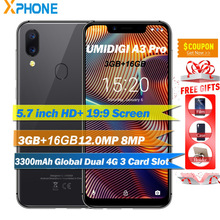 UMIDIGI A3 Pro 3 GB 16 GB Küresel Band 5.7