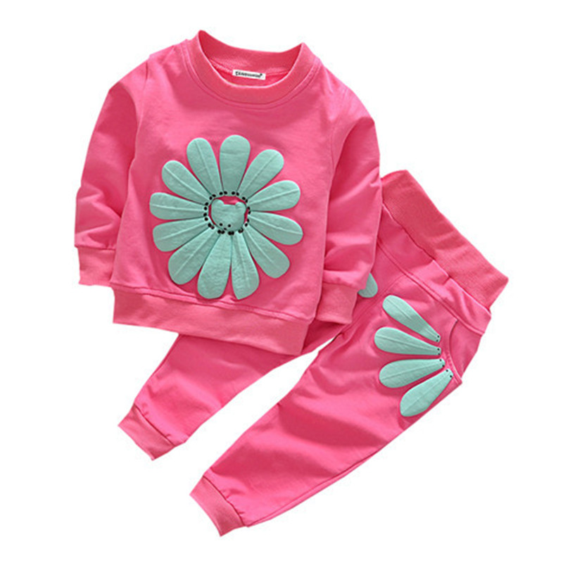 Baby Boy and Girls Cotton Long Sleeve T-Shirt Tops Pants Outfits Set Autumn Winter 2 Pcs Clothing Set Toddler Kids