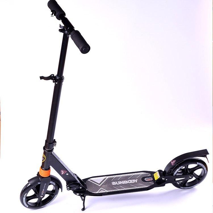 Prix pour 2016 mise à niveau Adulte scooter en aluminium deux grandes roues pliant portable scooters pour adultes enfants 08160000