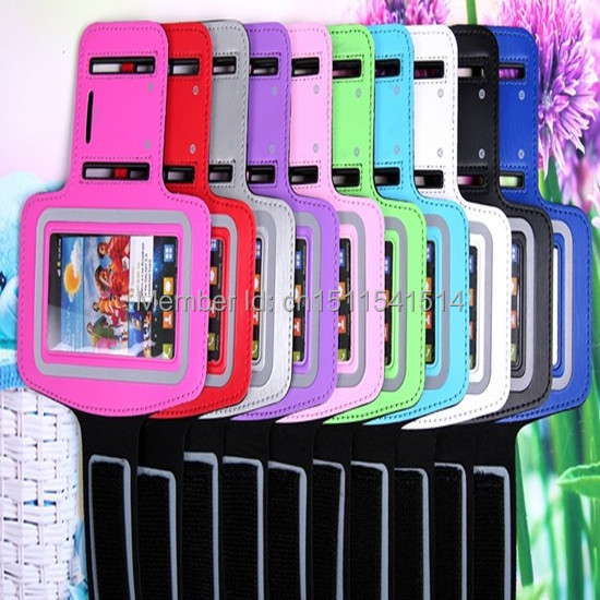 50pcs lot 10 Colors Sport Armband Jogging Case Cover For Samsung Galaxy Note 2