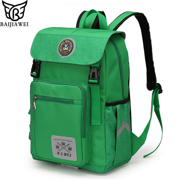 b9209ce7d BAIJIAWEI Children School Bags For Girls Boys Mochila Infantil Zip Kids  Backpack Waterproof In Primary School