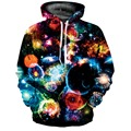 2016 Men Women 3D Colorful Universe Sky Space Printed Big Pocket Pullovers Couple Matching Hip Hop Punk Wind Hooded Weed Hoodie