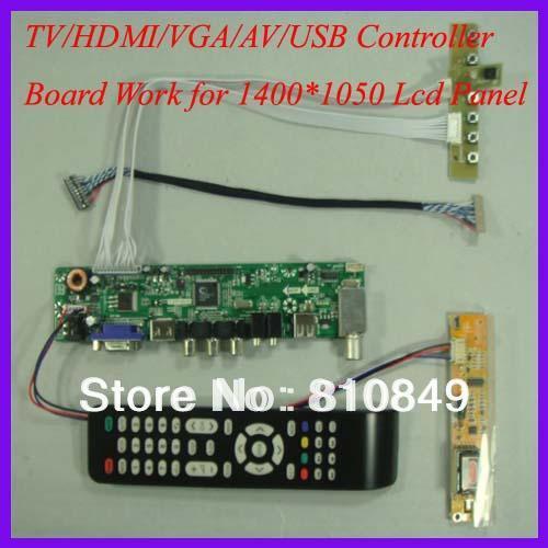 TV/HDMI/VGA/AV/USB/AUDIO LCD controller Board for 1400x1050 1 CCFL 20P lcd panel hdmi vga av audio usb controller board for m201ew01 1680 1050 6ccfl lcd panel for raspberry