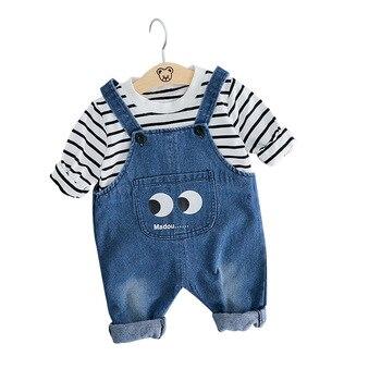 d2227bed2 Alta calidad 0-2 años ropa de bebé niño de manga larga Camiseta +  Pantalones 2 piezas niños ropa conjunto ¡infantil ropa de bebé chico  conjunto