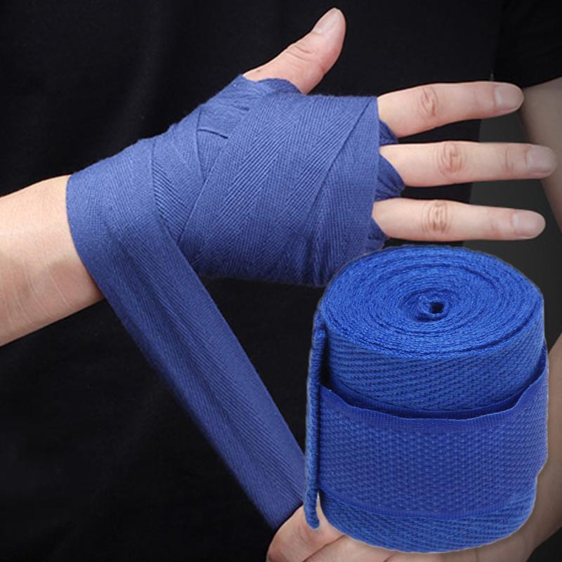 1pc 2.5M Cotton kick boxing bandage wrist straps Sport Strap Boxing Bandage Muay MMA Taekwondo Hand Gloves Wraps Hand Protection authentic rdx inner hand wraps gloves boxing fist padded bandages mma gel thai