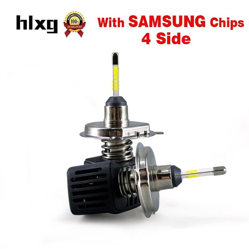 HLXG 2pcs 360 Degree H4 LED Auto Headlight Conversion Bulb Kit With SAMSUNG Chip Hi Low