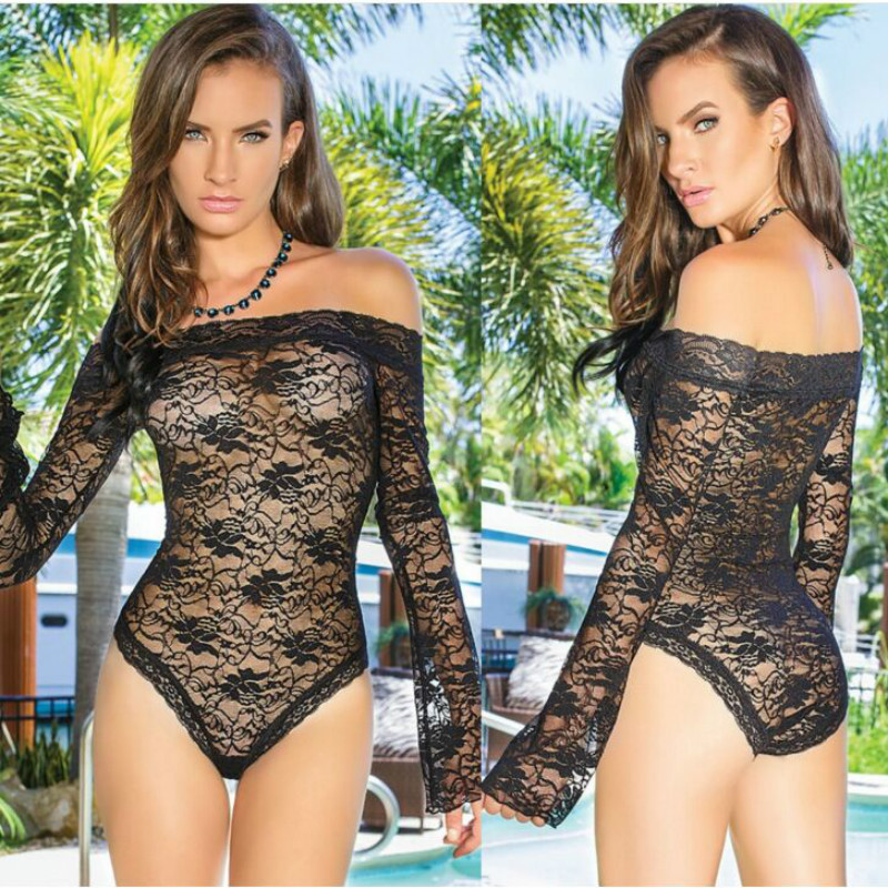 New Summer Jumpsuit Sexy Lace Floral Flower Mesh Bodysuit Women Bodycon Vestidos Ladies Clothing Clubwear Wholesale