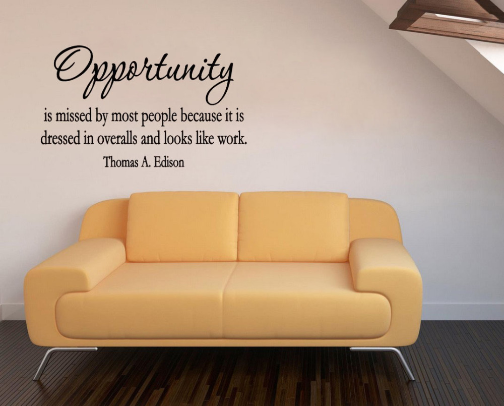 opportunity is missed by most people...and looks like work wall ...
