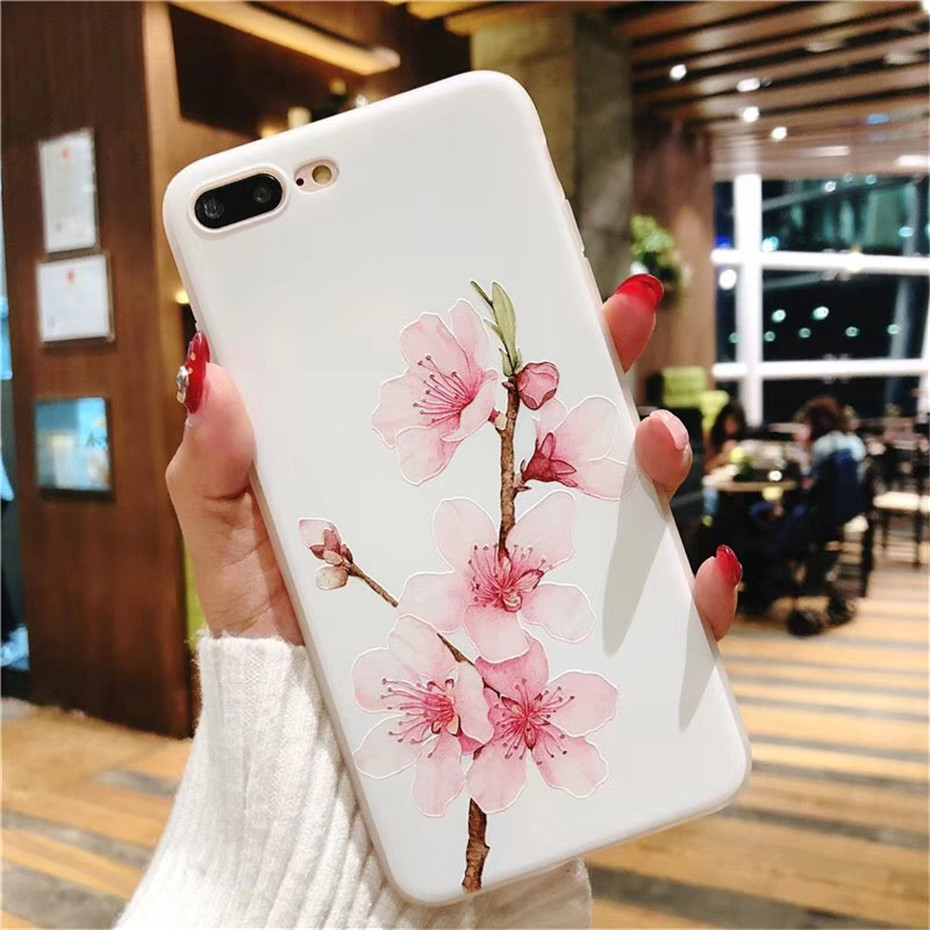 MOUSEMI Luxury 3D Silicone Case For iPhone 6 7 6S 8 Plus 5S SE X XS MAX XR Shockproof Flower Phone Case For iPhone 6 7 Case Girl (9)