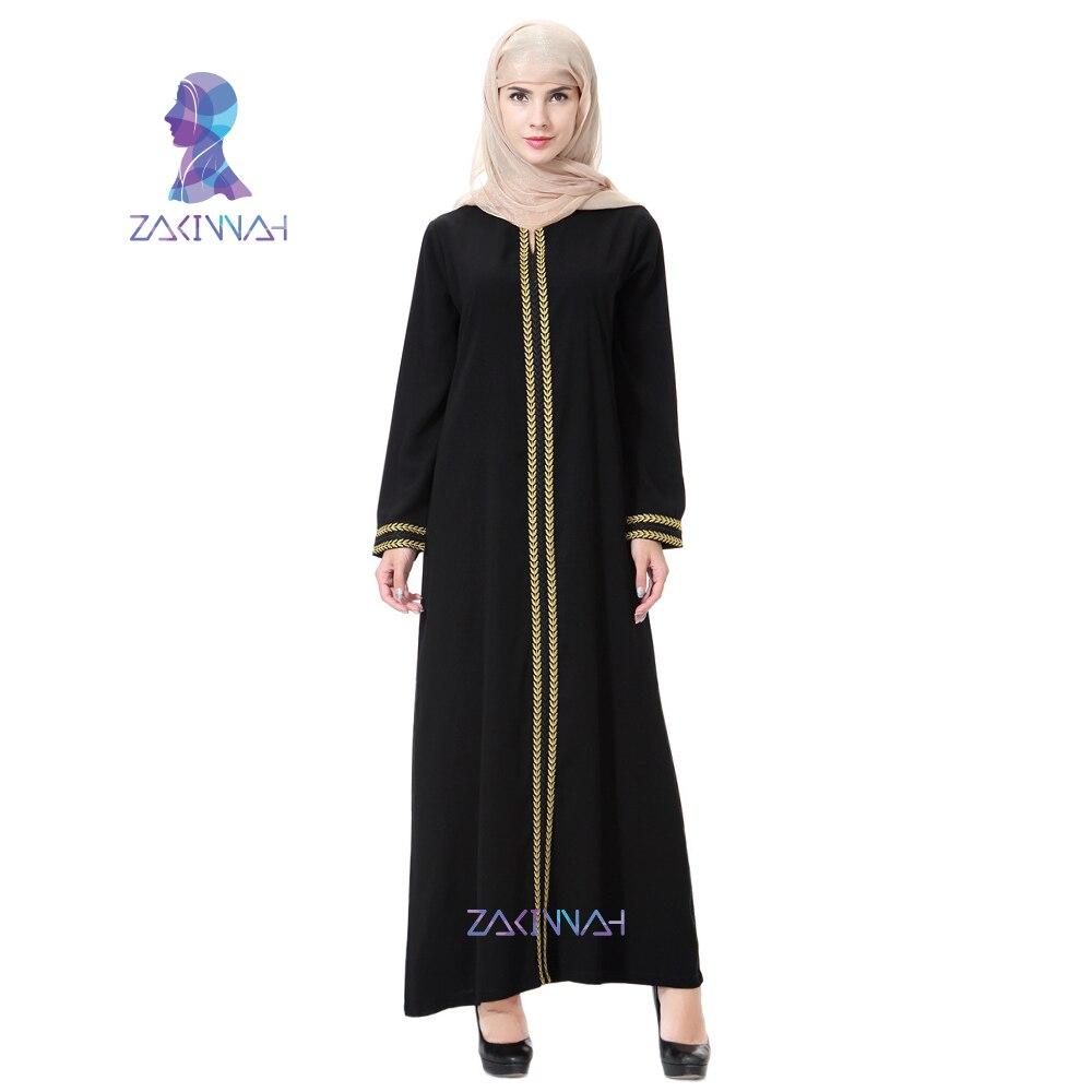 Zakiyyah Novi vez Abayas za žene muslimansku haljinu Plus veličina - Nacionalna odjeća - Foto 2