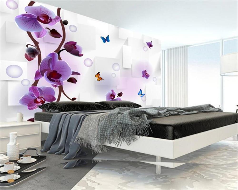 Purple Flower Wallpaper For Bedroom Free Flower Wallpaper Promotion Shop For Promotional Free Flower