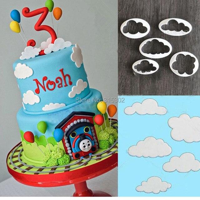 5 Teile Los Wolke Kunststoff Fondant Cuttter Kuchen Cookie Buscuit