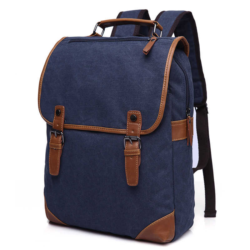 Multifunction Vintage Men Male Canvas Backpacks School Bags for Teenagers  Boys Large Capacity Travel Laptop Bags dff1a9613147e