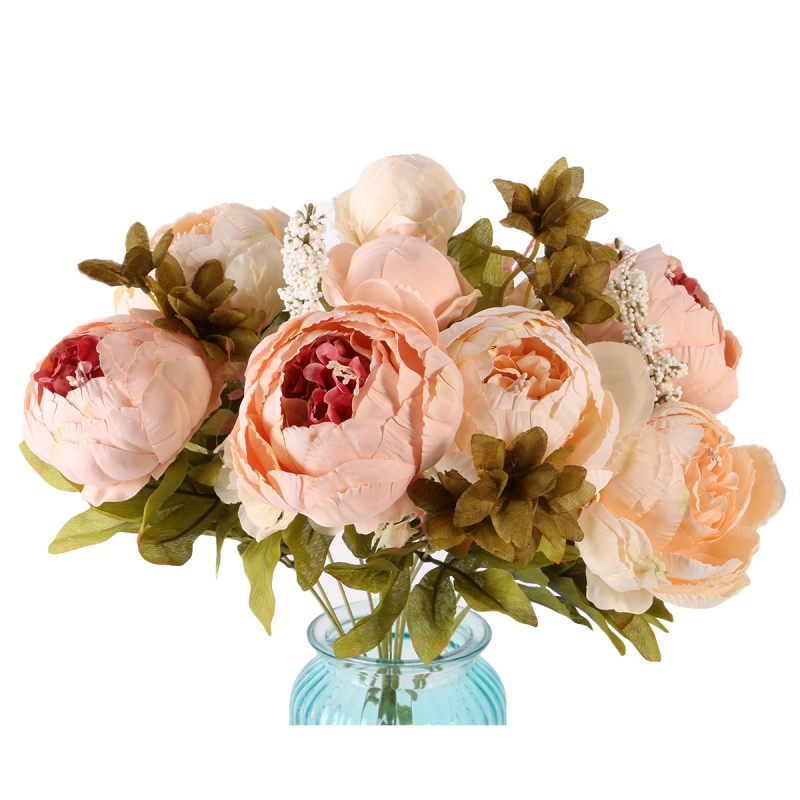 Artificial flowers silk flower european fall vivid peony for Fall wedding bouquets for sale