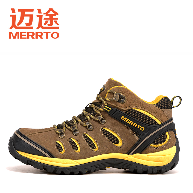 ФОТО 2017 Merrto Camping Hiking Outdoor Sports Women Shoes Waterpoof Thermal Shoes For Female Free Shipping MT18510