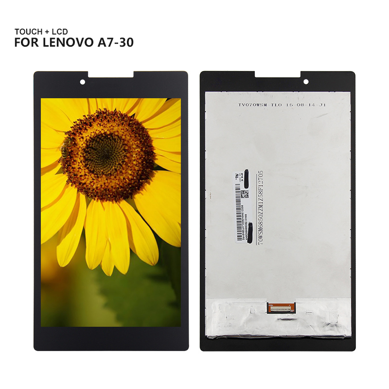 For Lenovo Tab 2 A7-30 A7-30HC Display Panel LCD Combo Touch Screen Glass Sensor Replacement Parts for lenovo tab2 a7 30tc a7 30hc outer screen glass touch screen lcd touch screen assembly