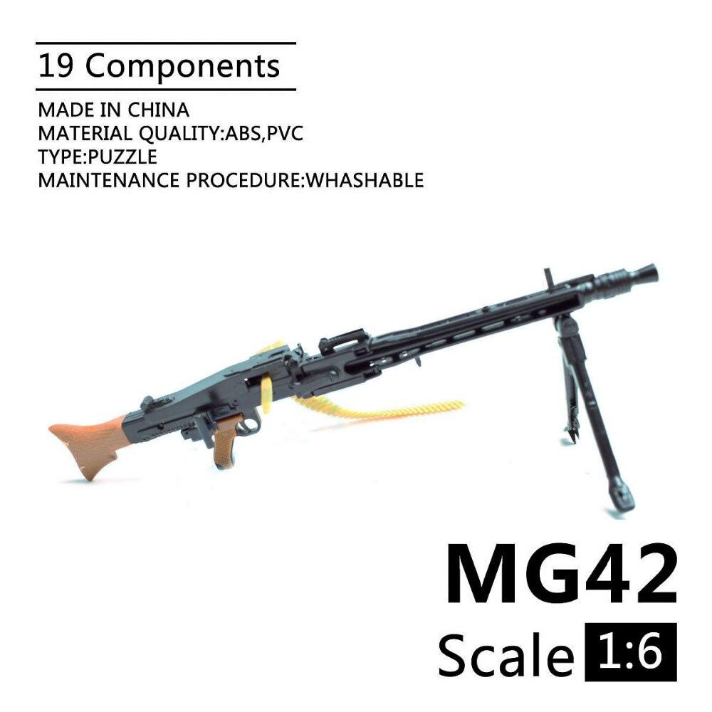 1:6 MG42 General Purpose Machine Gun Assembling Gun Model Assembly Plastic Weapon For 1/6 Soldier Military Building Blocks Toy