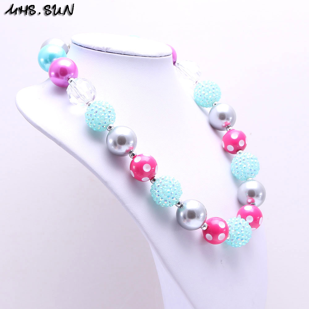 diamond kid bead pendant bubblegum multicolor children product necklace sun design mhs jewelry chunky