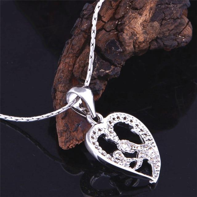Heart Design Exquisite Silver Pendant