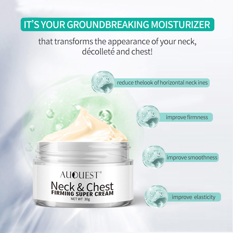 11.11 AuQuest Neck & Chest Wrinkle Cream Tight Skin Anti Aging Wrinkle Remover Lifting Skin Firming Cream Neck Cream Skin Care 1