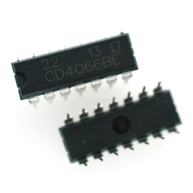 10PCS/Lot <font><b>CD4066</b></font> CD4066BE 4066 4066BE DIP-14 dip14 Switch Chip IC image