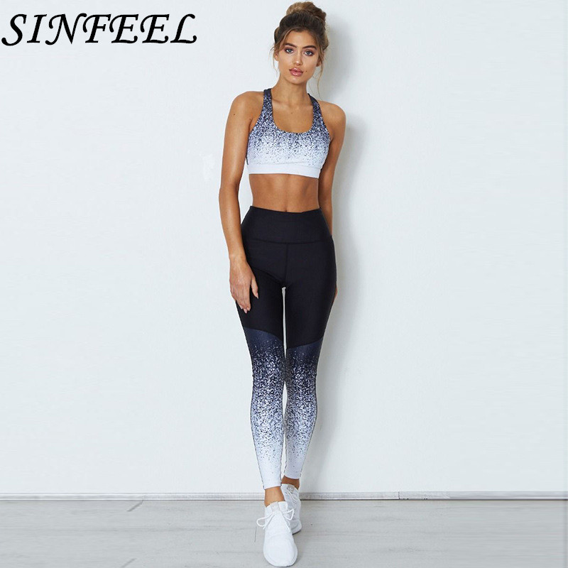 2018 Summer Sleeveless Tops Skinny Tank Crop Top And Legging 2 Piece Set Women Clothing Exercise Fitness Women Set Two Pieces sexy sports bra and leggings